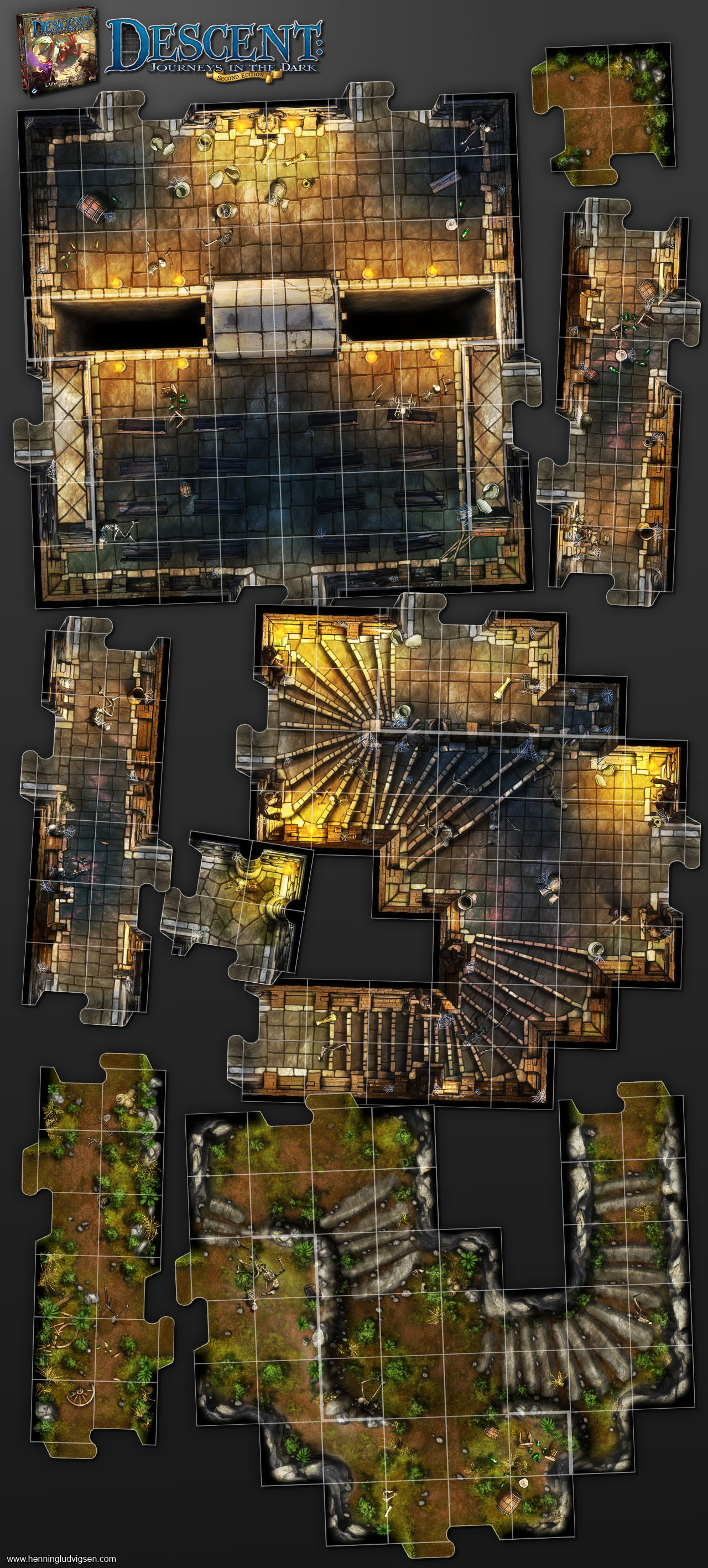 Labyrinth of Ruin Expansion Descent Second Edition